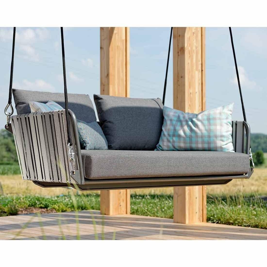 Stern Space 2 Sitzerschaukel Aluminium Gurtbespannung Terrassengestaltung Schaukelliege Schaukel
