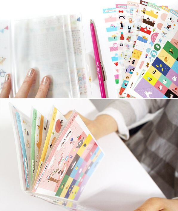 8 Sheets Jetoy Joozoo Kawaii Sticker Masking Paper Diary Stickers Planner Stickers Sticky Notes Papeleria Statio Planner Stickers Sticker Paper Kawaii Stickers
