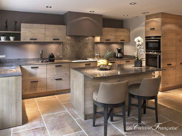 vista de la isla de cocina con taburetes | decor | Pinterest | Islas ...
