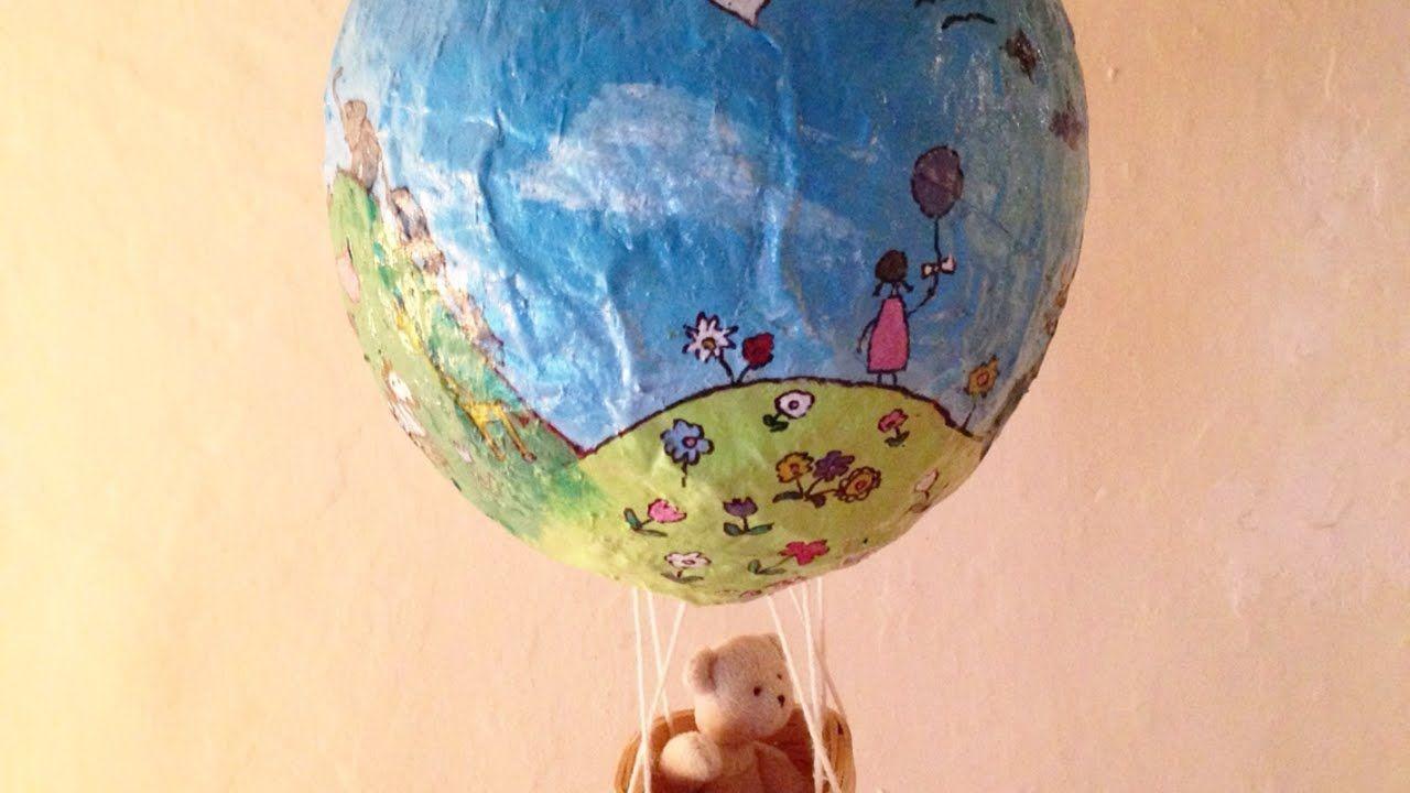 Crea una mongolfiera di cartapesta fai da te creazioni