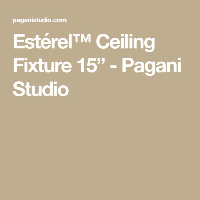 Estérel ceiling fixture 15 pagani studio