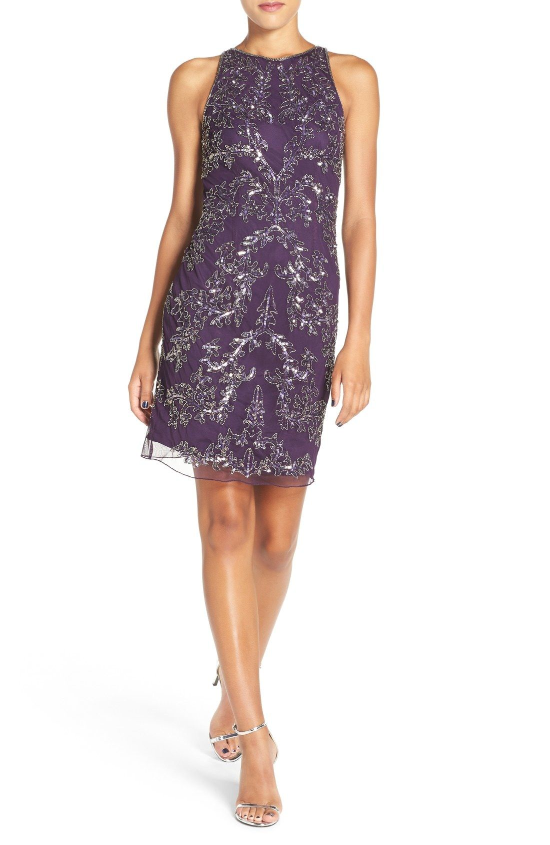 Adrianna Papell Embellished Chiffon Sheath Dress available at #Nordstrom