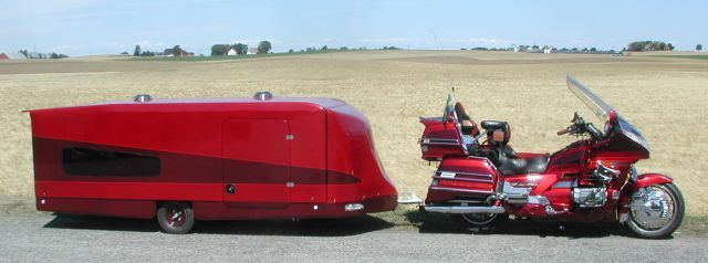 Pushing The Limits Of Motorcycle Camping Pop Up Camper Trailer Goldwing Pull Behind Motorcycle Trailer
