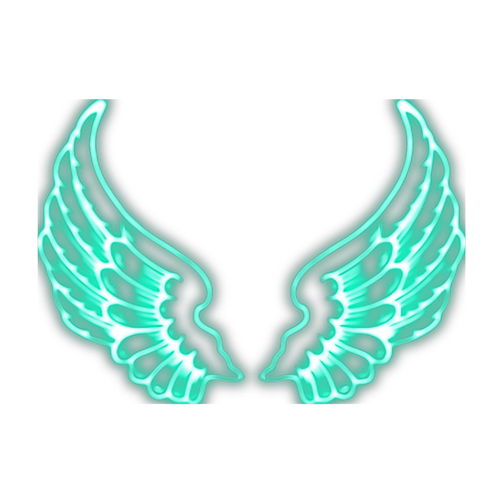 Neon Wings Sticker By Karlee Marie Angel Wings Painting Light Background Images Photo Background Images Hd