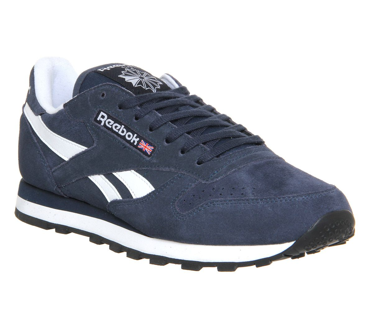 New Reebok Classic royal CL jogger black white synthetic leather sports trainers Black /