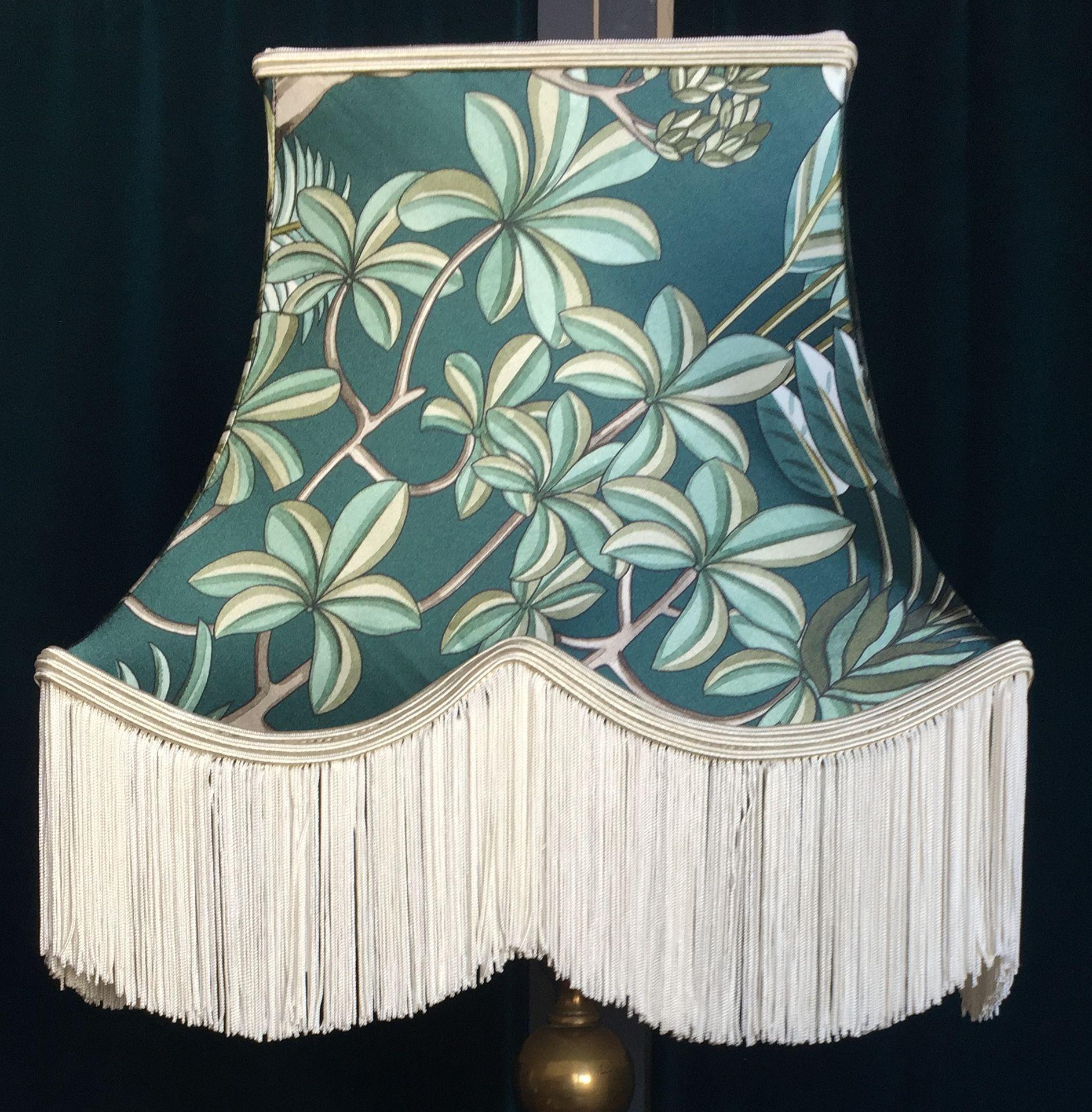 Abat Jour Tulipe Tissu abat-jour pagode carrée , tissu mélange de soie et coton