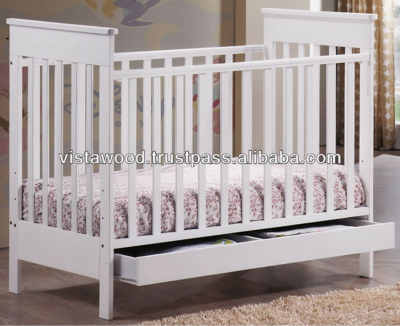Baby Crib With Drawer Wooden Baby Crib Nursery Baby Furniture Buy