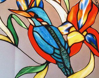 Tiffany Stained Glass Suncatcher Glass Window Decoration Of A