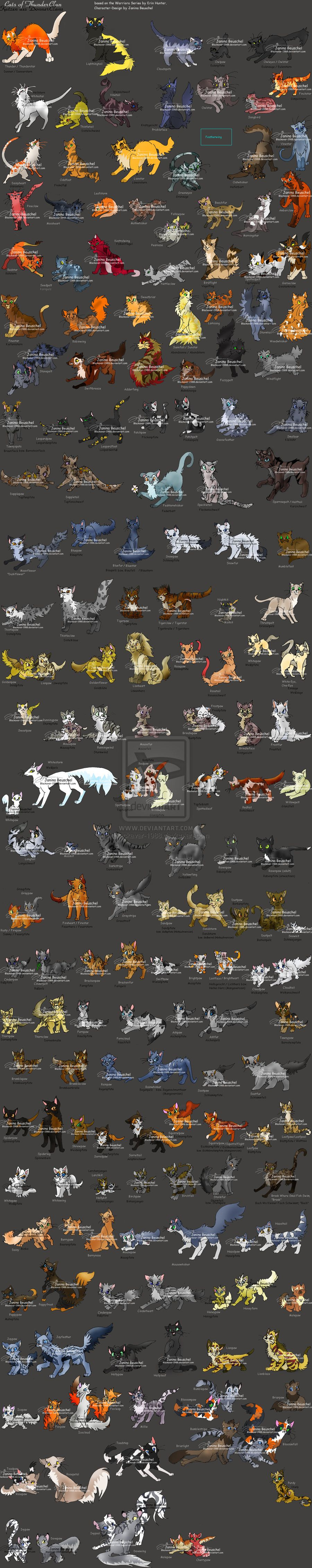 Not really film, but whatever. Cats of Thunderclan, from