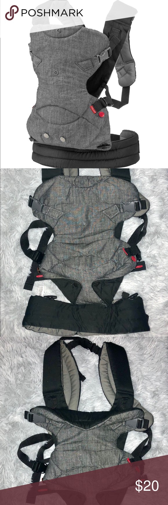 Infantino Fusion Baby Carrier Black Gray Infantino Fusion Flexible