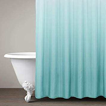 Amazon Com Lazzzy Ombre Shower Curtain Teal For Bathroom