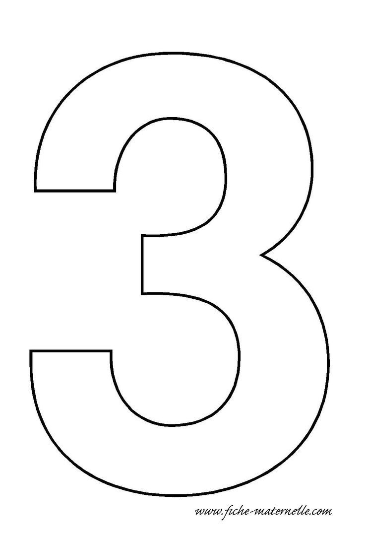 Number 3 Template Crafts And Worksheets For Preschool Toddler And Kindergarten Numbers Preschool Printable Numbers Number Stencils