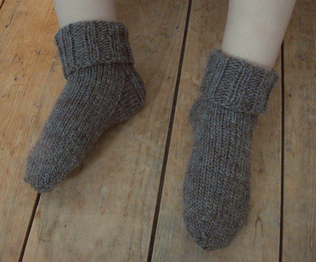 patron de chaussettes tricotees