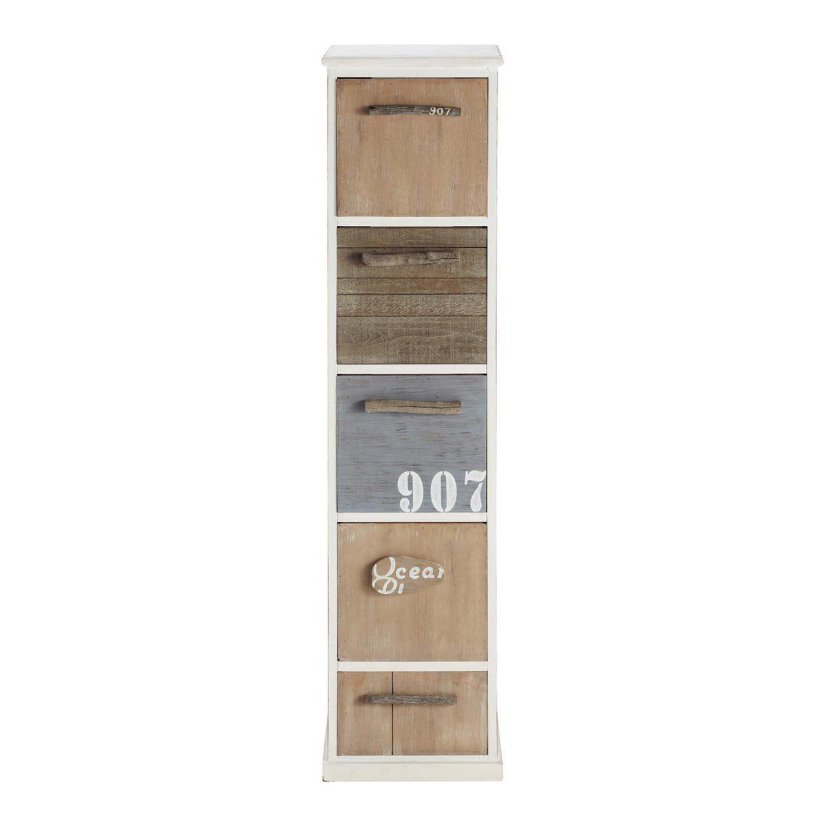 Colonne De Rangement Blanche Molene Home Bedroom Pinterest  # Casier Acacia Blanchie