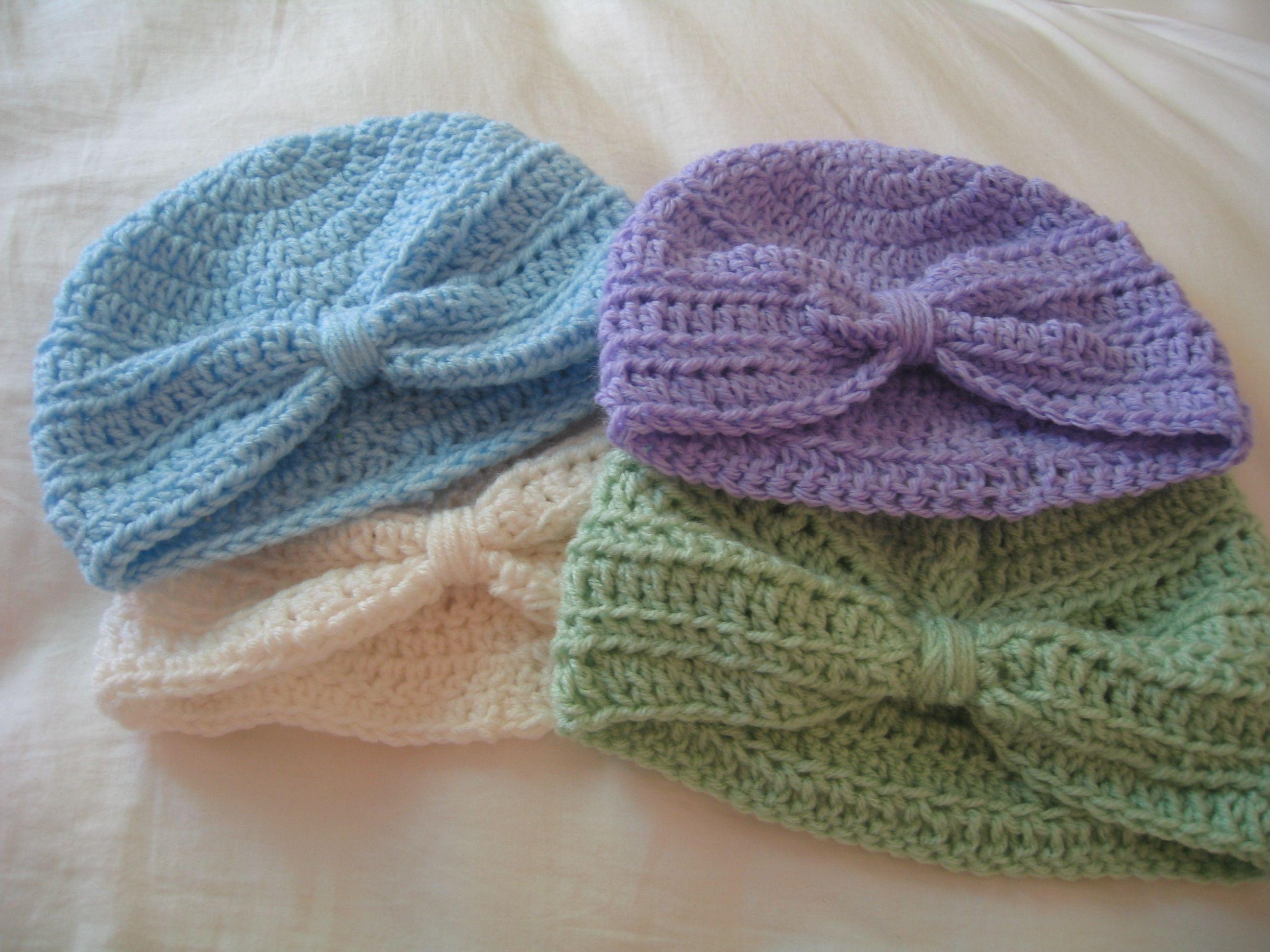 crochet baby turbins sharicrochet.blogspot.com   Red Heart Yarns ...
