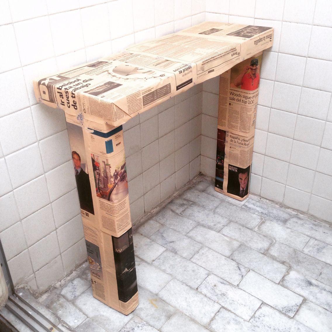 Mueble de decoraci n hecho con cajas de leche o tetrapack - Decoracion de cajas ...