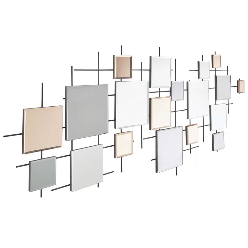Brayden Studio® Viborg Multiple Decorative Modern & Contemporary Frameless Wall Mirror & Reviews | Wayfair