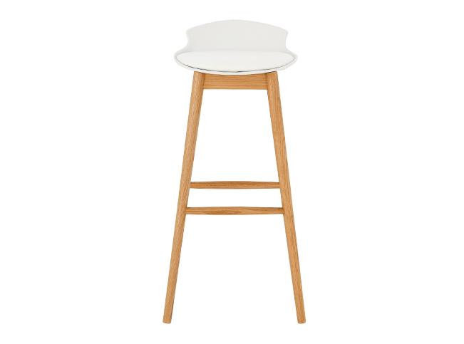 Stupendous Thelma Bar Stool Oak And White Our Eco Home Nikki Machost Co Dining Chair Design Ideas Machostcouk
