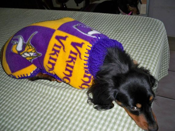 finest selection 5c489 62511 MINNESOTA VIKINGS NFL Dog Coat/ Sweater by magge03 on Etsy ...