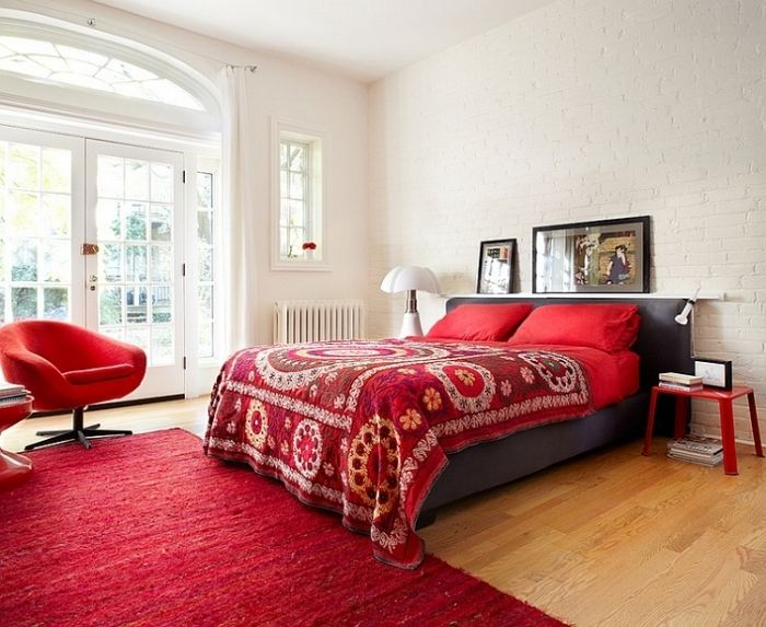 14 Schlafzimmer in Rot gestaltet – Romantisches Flair pur | home ...