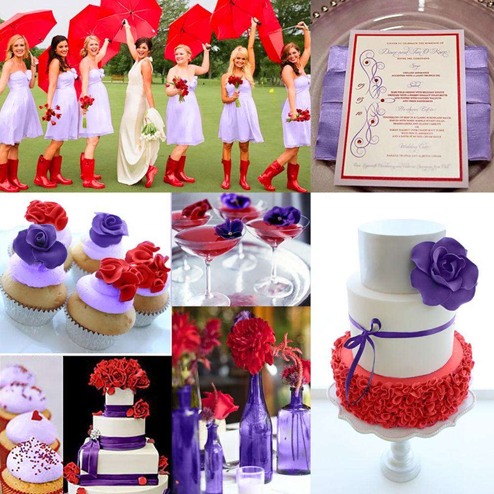 Lavender Red Wedding Color