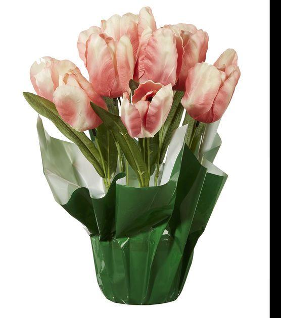 Spring Floral Tulip In Pot Pink