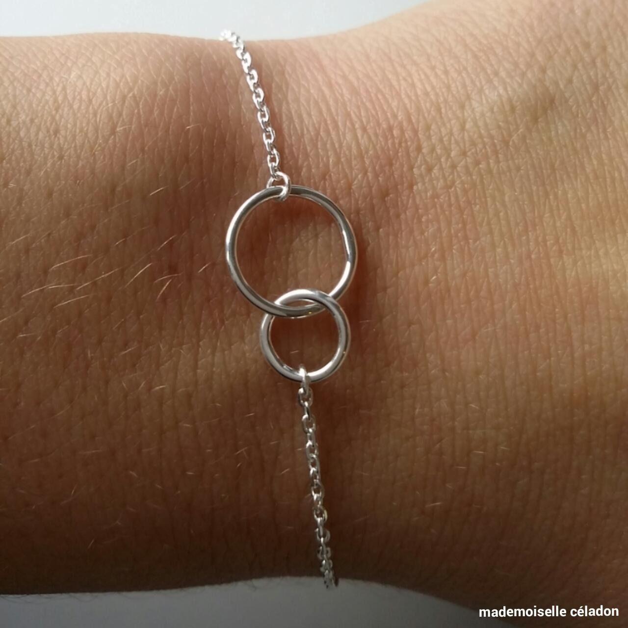 bracelet argent cercles