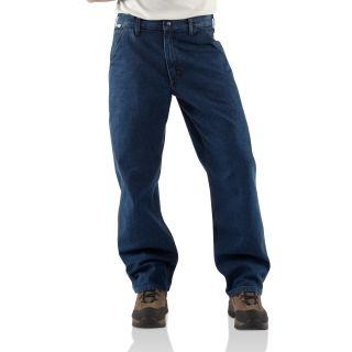 Carhartt FRB13 Men's Flame-Resistant Signature Denim Dungaree #Carhartt #Denim