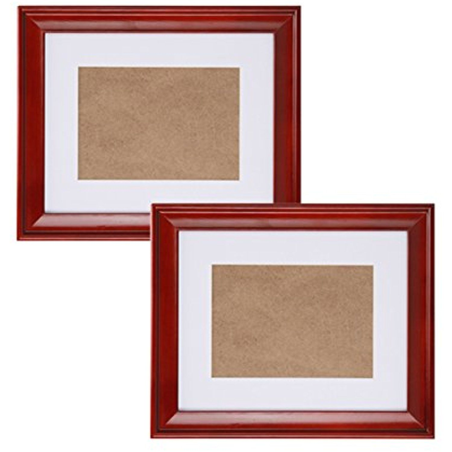 Fastnova 7x9 Inch Wide Cherry Red Wood Picture Frames Made To Display Picture 3 5x5 With Mat Or 5x7 Withou Picture Mounting Wood Picture Frames Picture Display