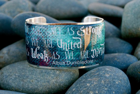 Rustic Cuff  Harry Potter Quote on a gold or silver by RusticCuff, $36.00