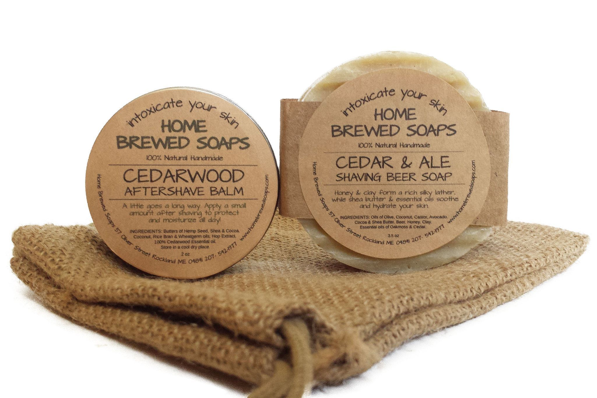 Beer Soap Shaving Set - Cedarwood & Ale