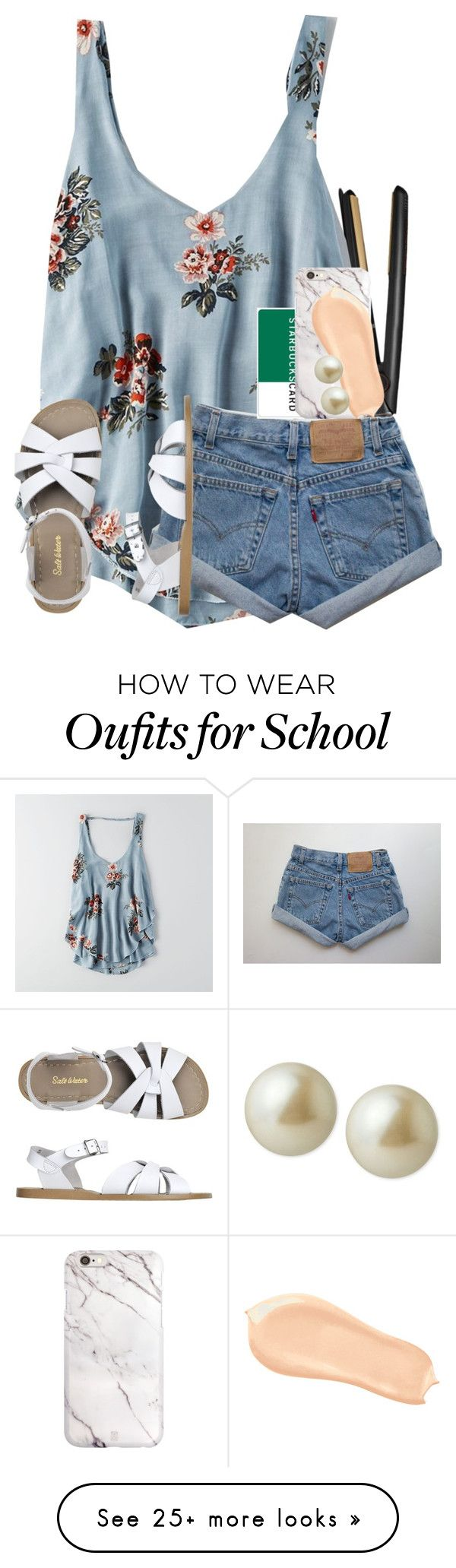 """middle school stinks."" by ellaswiftie13 on Polyvore featuring GHD, American Eagle Outfitters, Toast, Too Faced Cosmetics and Carolee"