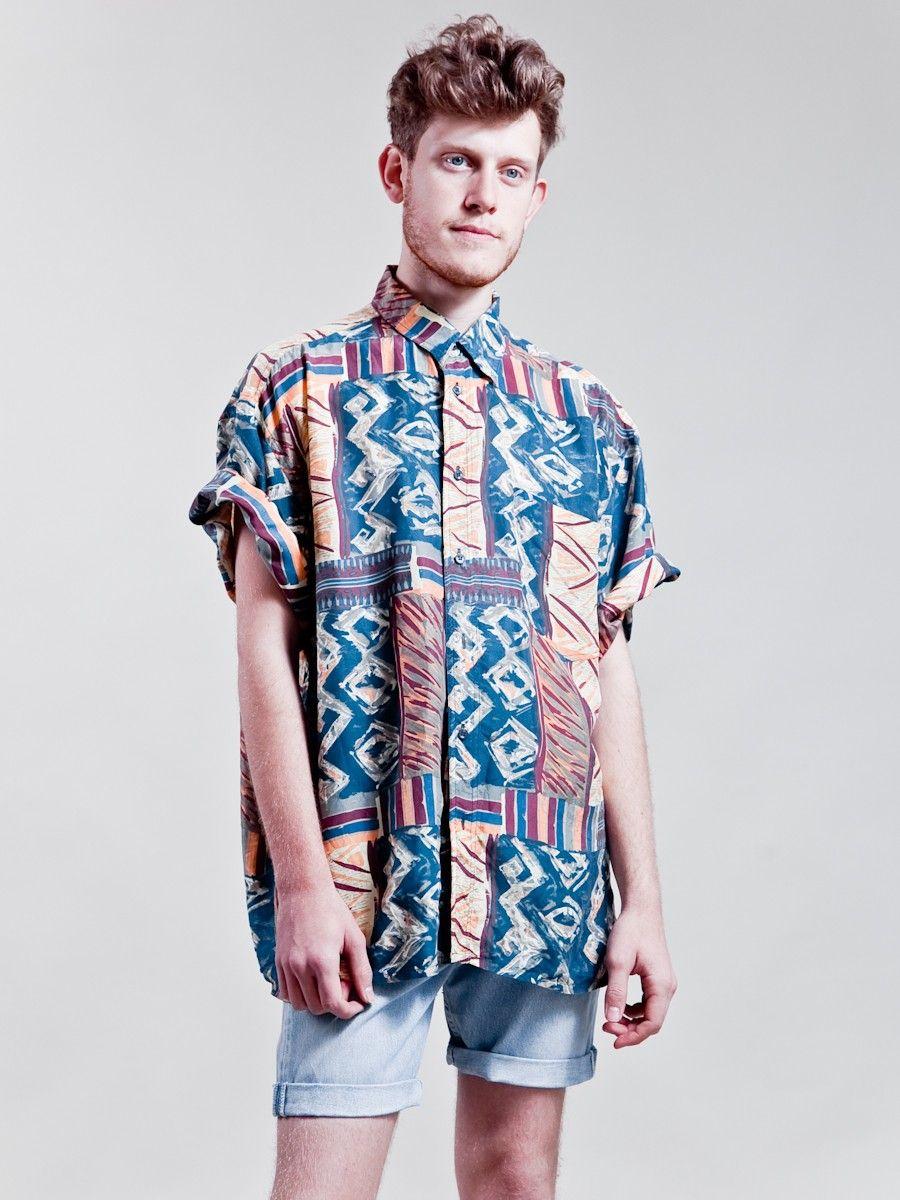 2733b78fe024 90s crazy patterned shirt - mens  MensFashionShorts