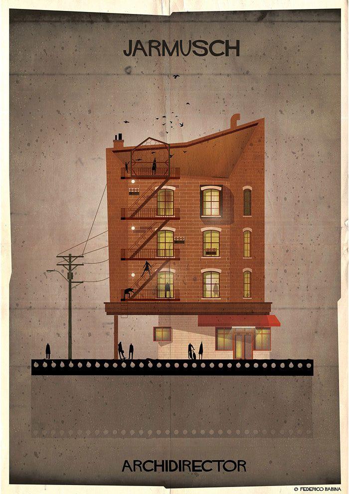 Movie Directors' Styles Reinterpreted As Architecture by Federico Babina | Jarmusch | @demilked