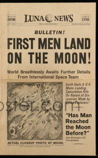 9d089 FIRST MEN IN THE MOON herald '64 Ray Harryhausen, H.G. Wells, cool Luna…