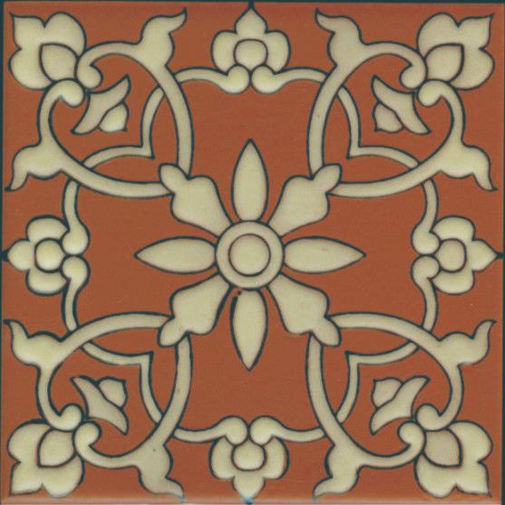Porcelain Catalina Tile Samara Terra Cotta 6 Inch