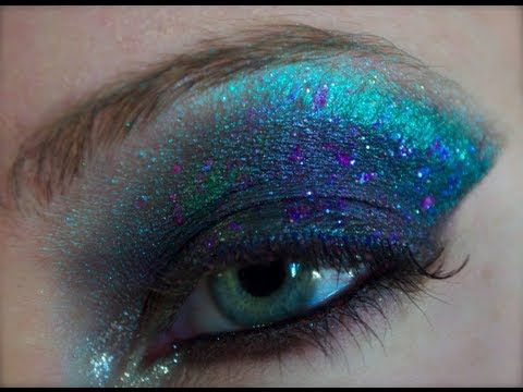 Oil Spill Nebula Cosmic Space Makeup Tutorial Space Makeup Intense Makeup Fantasy Makeup