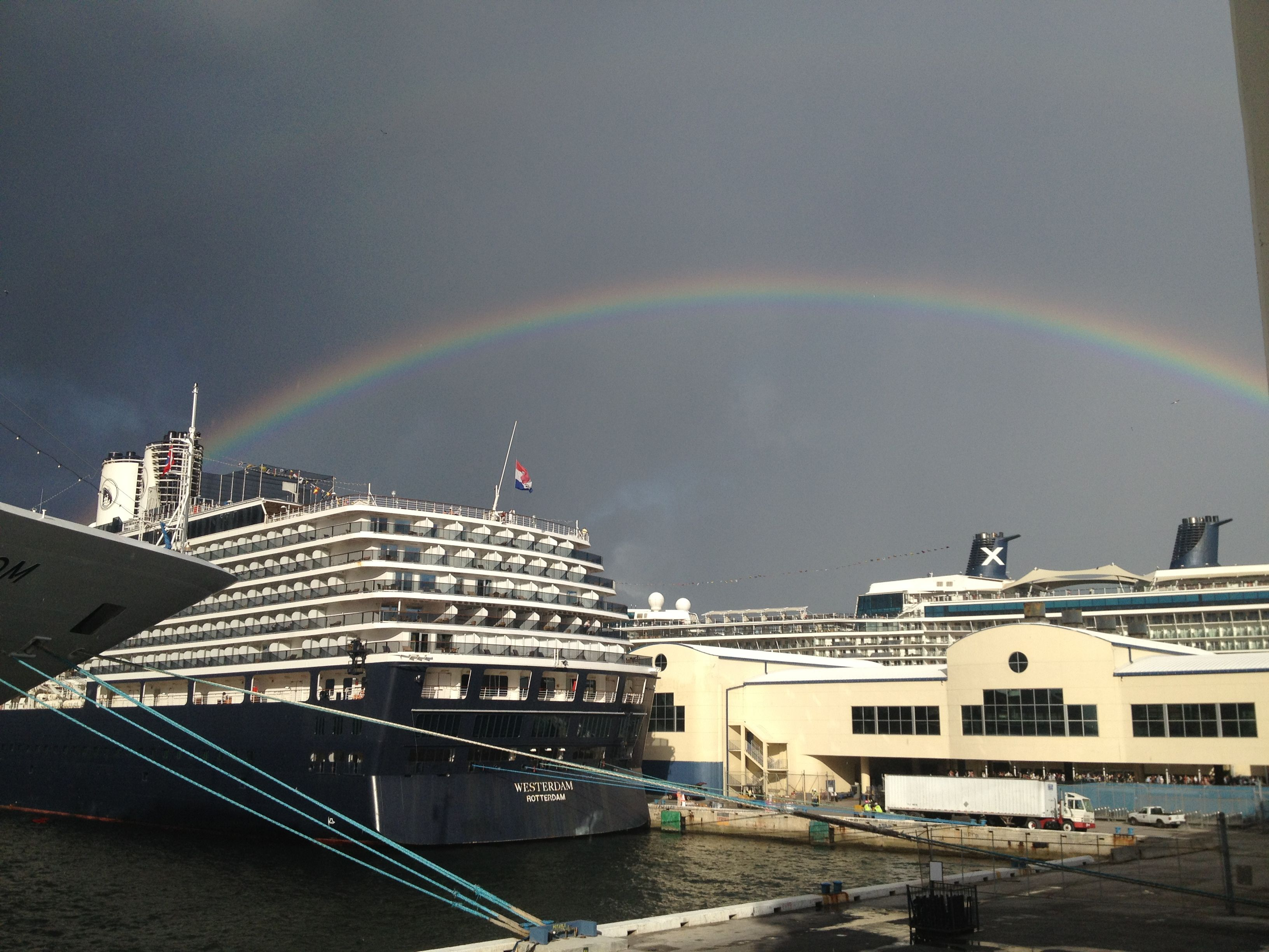 Port Everglades Florida Cruise Ships Under A Rainbow Cruise Vacation Cruise Ship Cruise Port