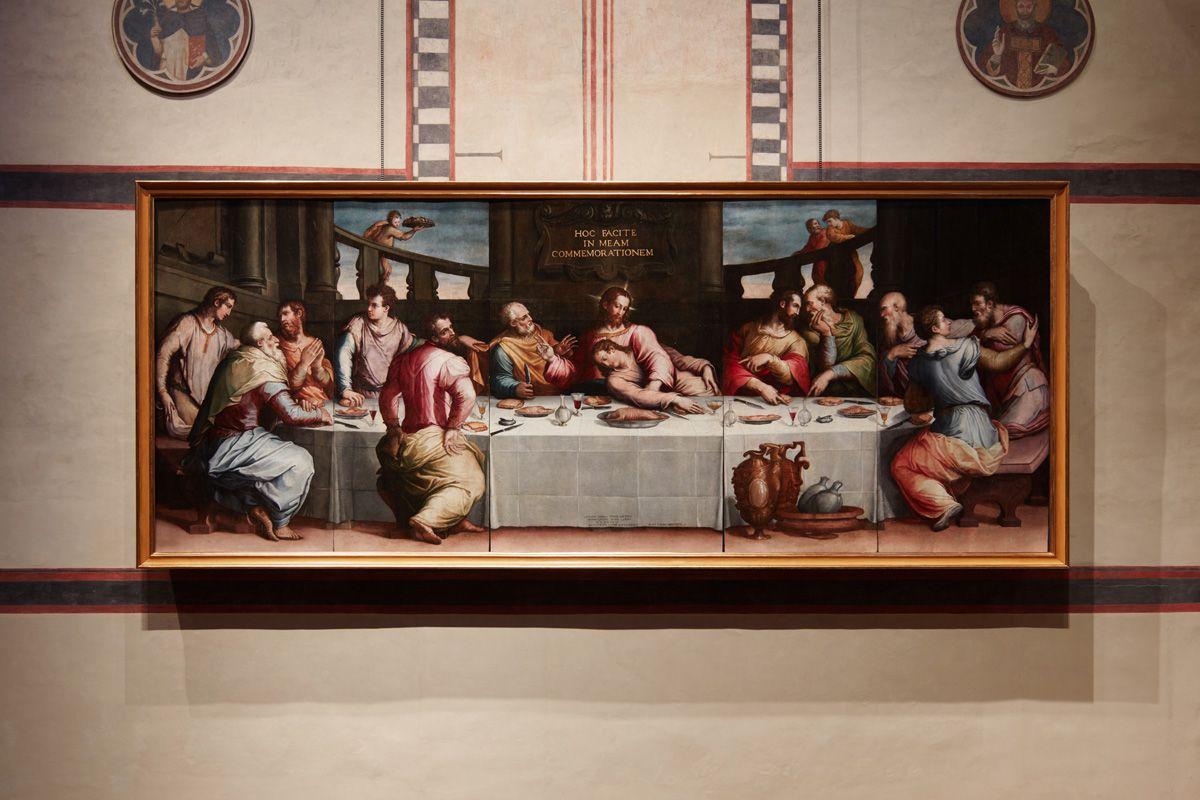 """1546 - """"L'Ultima Cena"""" (The Last Supper, after 2010-2016 restoration), by Giorgio  Vasari (Italian, Firenze, Rupubblica Fiorentin…   Last supper, Italian  artist, Art"""