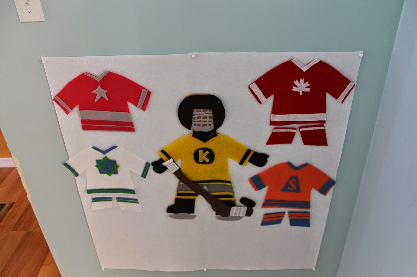 Pin The Equipment On The Hockey Player Game Made Out Of