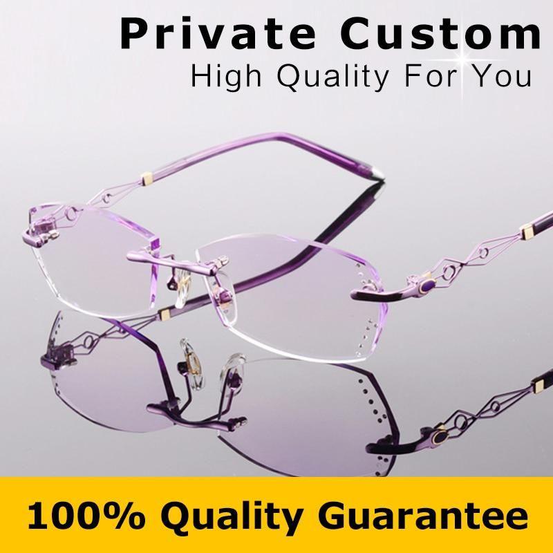 0522baa59f4 Brand Designer Myopia Glasses Women Glasses Optical Luxurious Ladies  Eyeglasses Rimless Frame with Box Reading Eye Glasses 617. Yesterday s  price  US  75.90 ...