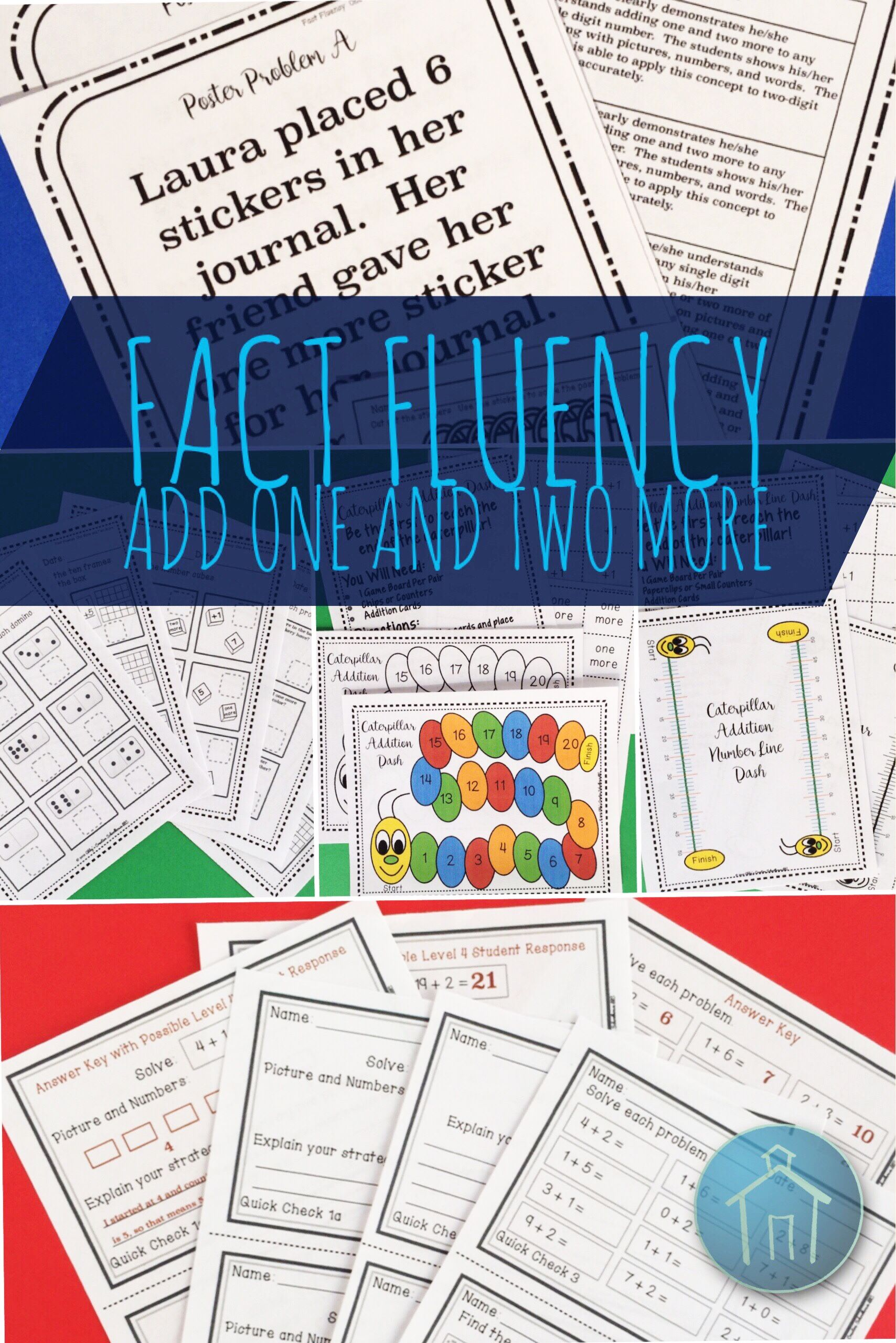 Addition Fact Fluency Add One And Two Activities