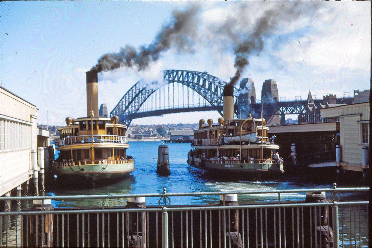 Vintage Sydney Ferries Vintage Sydney Photos Vintage Circular Quay Sydney Ferries Sydney City Australia History
