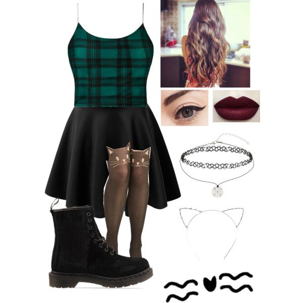Untitled #305 by starmaterial54 on Polyvore featuring polyvore, fashion, style, Influence, Dr. Martens and Miss Selfridge