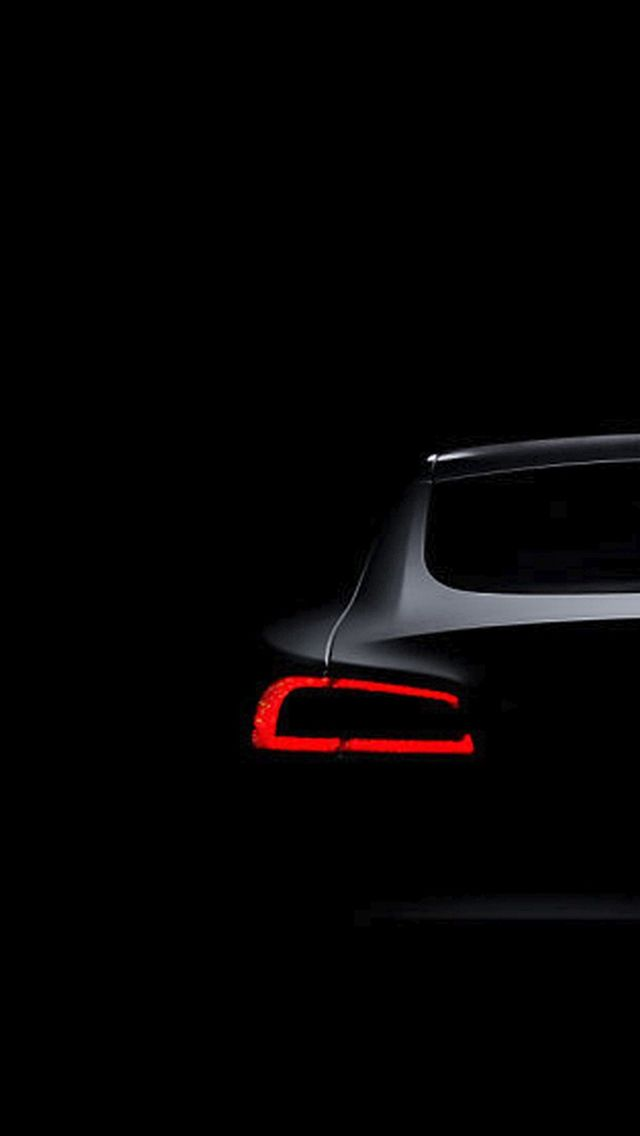 Tesla Model S Dark Brake Light iPhone 5s wallpaper 4
