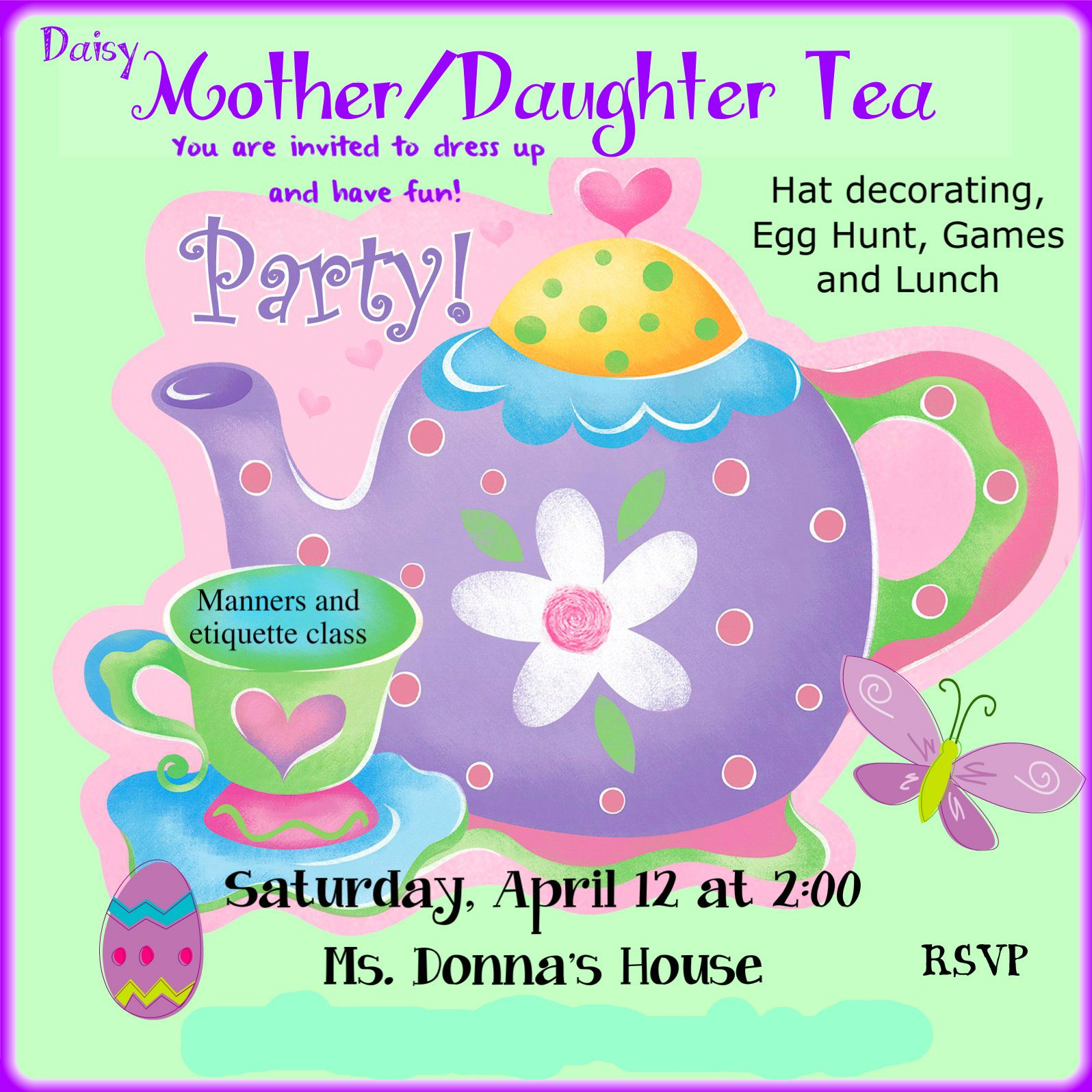 Mother Daughter Tea Program Template - - Yahoo Image Search Results ...