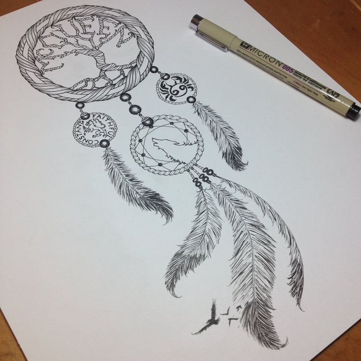 cf8b46c32465e Dream catcher tree | Tattoos | Tattoos, Wolf dreamcatcher tattoo ...