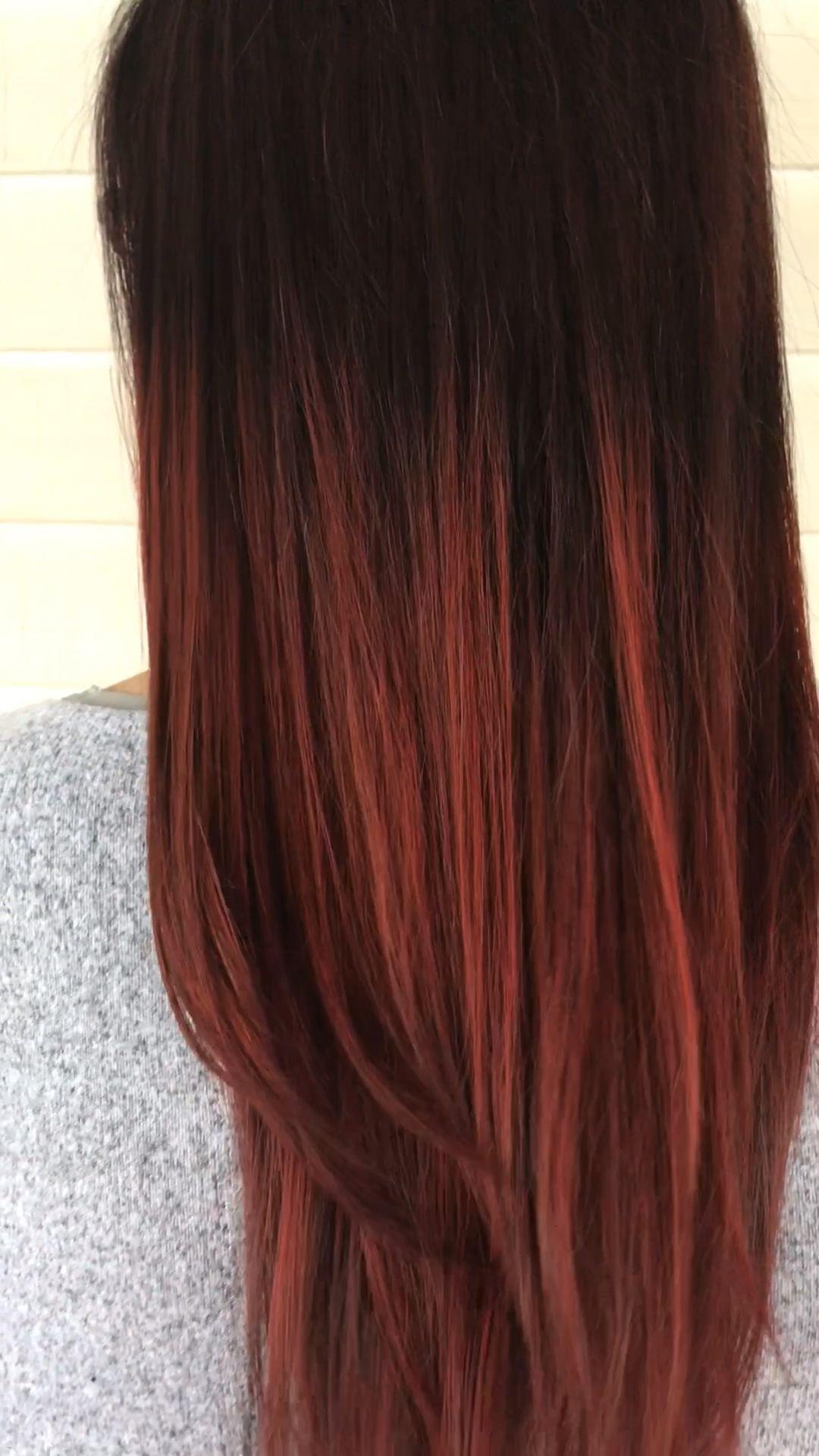 Photo of DIMENSIONAL DEEP BURGUNDY WINE HAIR COLOR