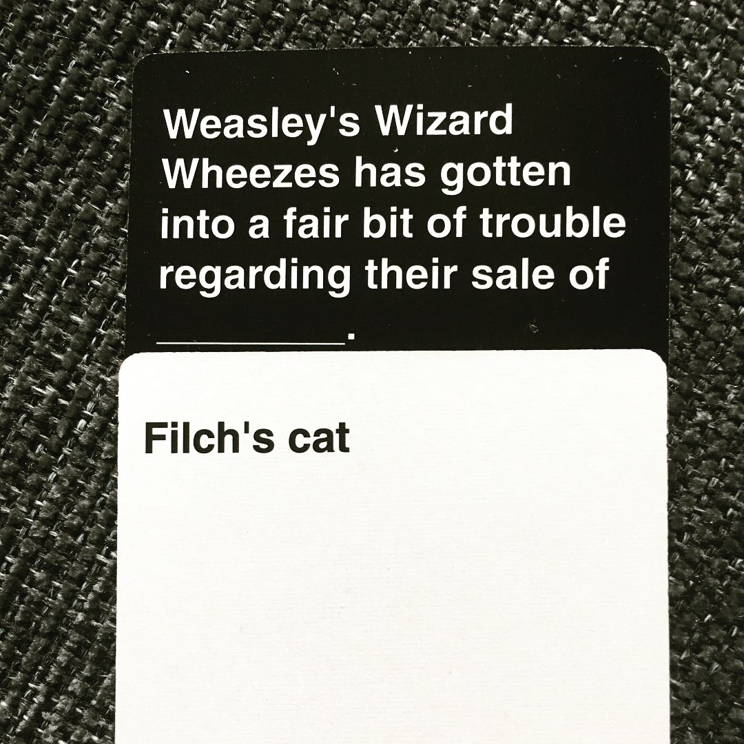 Cards against muggles with loowisa warning