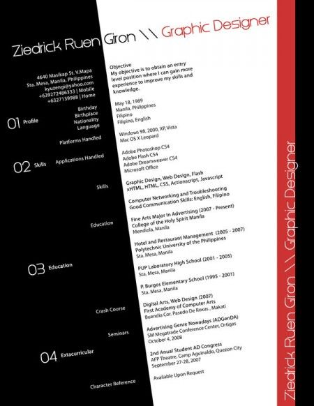 Best Creative Resumes Examples and Ideas of All Time Top 100 - Resumes Examples